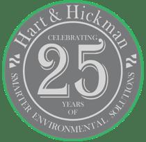 Hart & Hickman 25th Anniversary logo